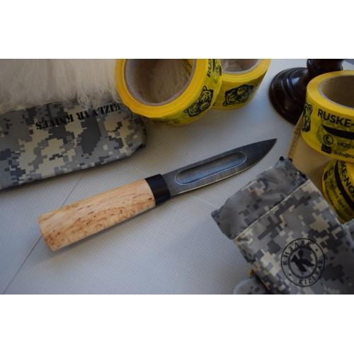 Lemax Yakut, damašková ocel, karelská bříza