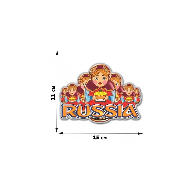 Nálepka ruská Matrjoška Rusko